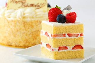 生デコレーションケーキ 断面図